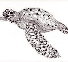 Tangled Sea Turtle by Christianne Gerstner