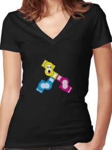 Ink Monkey Women's Fitted V-Neck T-Shirt