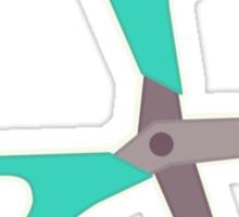 Green Scissors Sticker