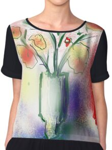 Vase With Flowers by Roger Pickar, Goofy America Chiffon Top