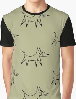 The space dog (outline black) Graphic T-Shirt
