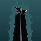 Maleficent and her Raven by Topher Adam by TopherAdam