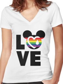 LOVE FOR ORLAND Women's Fitted V-Neck T-Shirt