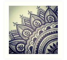 Beautiful Henna Hippie Flower Art Print
