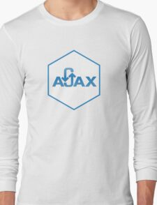 ajax programming language hexagon hexagonal sticker Long Sleeve T-Shirt