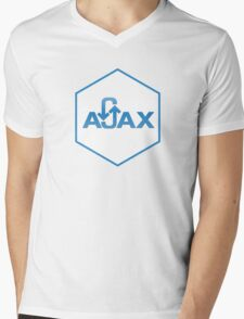 ajax programming language hexagon hexagonal sticker Mens V-Neck T-Shirt