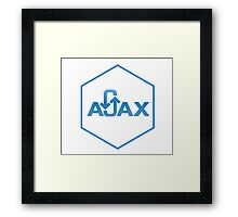 ajax programming language hexagon hexagonal sticker Framed Print