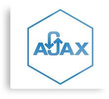 ajax programming language hexagon hexagonal sticker Metal Print