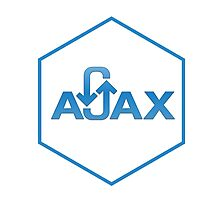 ajax programming language hexagon hexagonal sticker Photographic Print