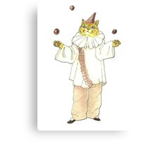 Clown Cat Canvas Print