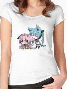 Cute Cat Girls Women's Fitted Scoop T-Shirt