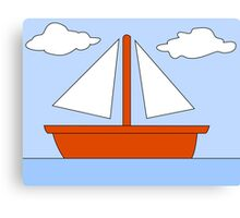 Cartoon Boat Picture Canvas Print