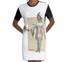 Clown Cat Graphic T-Shirt Dress
