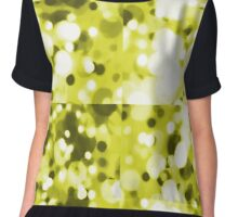 Abstract Effervescence In Yellow Chiffon Top
