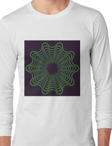 Green spirogram abstract design Long Sleeve T-Shirt