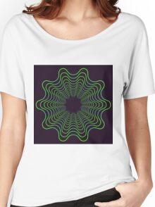 Green spirogram abstract design Women's Relaxed Fit T-Shirt