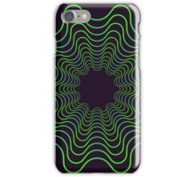 Green spirogram abstract design iPhone Case/Skin
