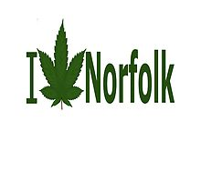 I Love Norfolk by Ganjastan