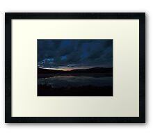Vermont sunset Framed Print