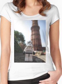 Dave Stormtrooper Dehli India Women's Fitted Scoop T-Shirt