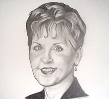 Joyce Meyer drawing by RobCrandall
