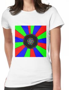 Colorful rays Womens Fitted T-Shirt