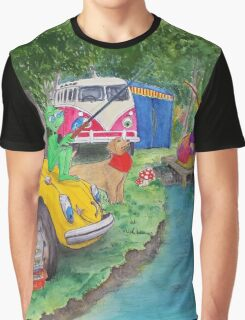 Taxi Bug's Fishing Camp Graphic T-Shirt
