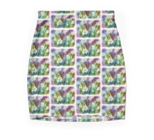COLORFUL FIELD OF WHITE DAISIES Mini Skirt