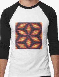 Bricks flower Men's Baseball ¾ T-Shirt