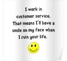 Customer Service Joke Poster