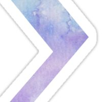 Blue Sigma Watercolor Letter Sticker