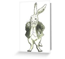 Mr. Rabbit and His Golden Watch Greeting Card