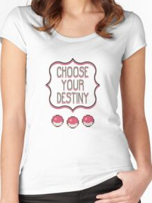 Pokémon - Choose Your Destiny Women's Fitted Scoop T-Shirt