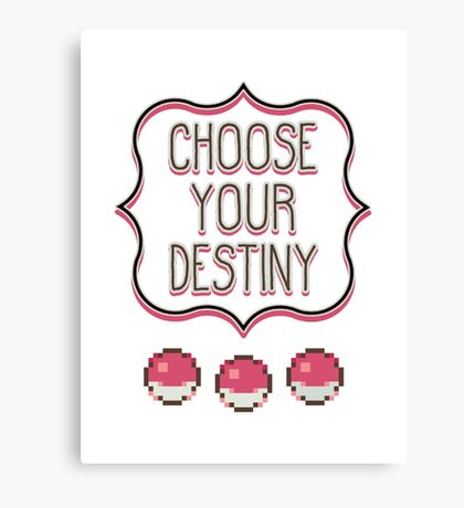 Pokémon - Choose Your Destiny Canvas Print