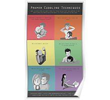 Proper Cuddling Techniques (Multicolor) Poster