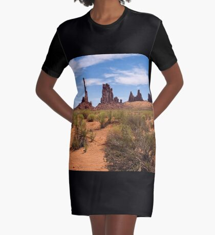 From the Earth I Arise Graphic T-Shirt Dress