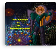 Chief Narsingh as the Universe protector Canvas Print