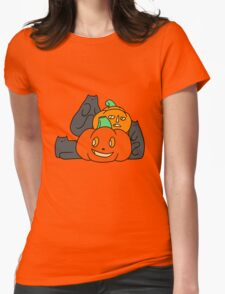 Cats and Pumpkins Womens Fitted T-Shirt