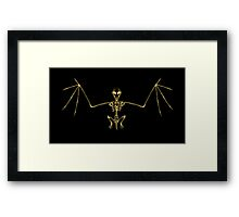 Bat Skeleton  Framed Print