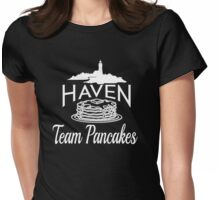 Haven Team Pancakes White Logo Womens Fitted T-Shirt