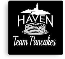Haven Team Pancakes White Logo Canvas Print