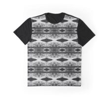 Grey Geometric Lace Pattern Graphic T-Shirt