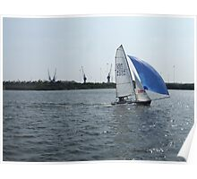 Sailing In Cardiff Bay Poster
