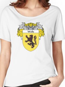 Wells Coat of Arms / Wells Family Crest Women's Relaxed Fit T-Shirt