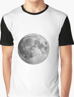 Distant Full moon Graphic T-Shirt