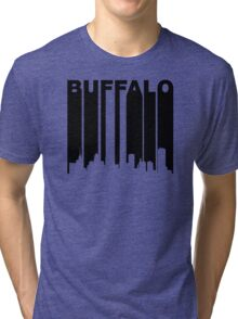 Retro Buffalo Cityscape Tri-blend T-Shirt