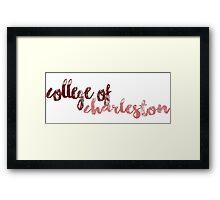 College of Charleston Framed Print