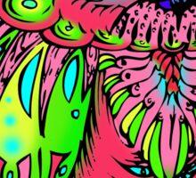 Psychadelic owl ~ Sticker