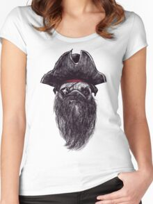 Capt. Blackbone the pugrate Women's Fitted Scoop T-Shirt