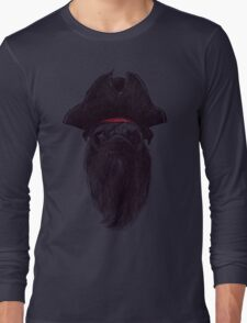 Capt. Blackbone the pugrate Long Sleeve T-Shirt